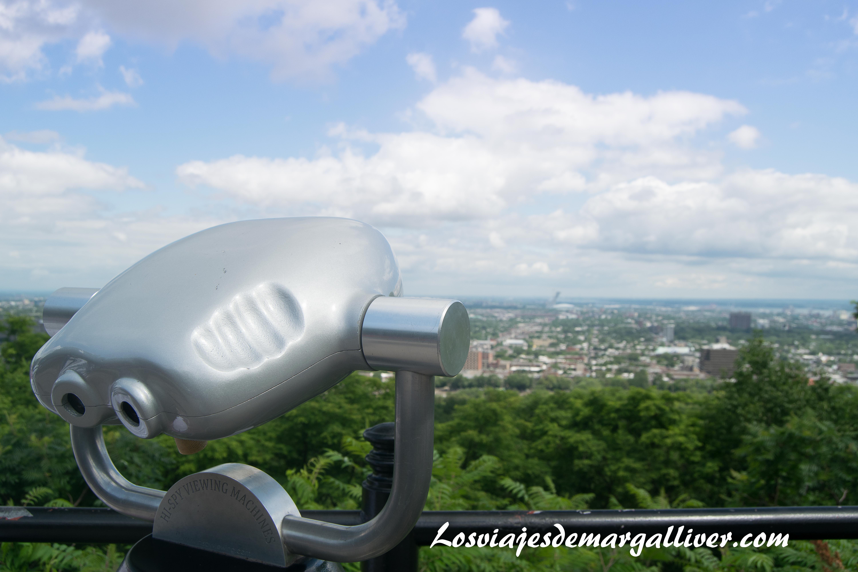 Vistas desde arriba del Parque Mont Royal ,10 cosas que hacer en Montreal - Los viajes de Margalliver